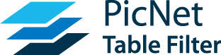 PicNet Table Filter
